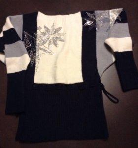 Прекрасный свитер на зиму, размер s