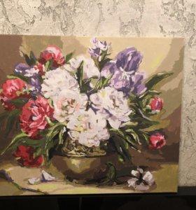 Картина нарисованная акриловыми красками