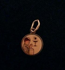 Подвеска-медальон золотая 585