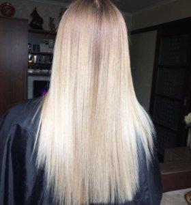 Кератиновое восстановление, выпрямление волос