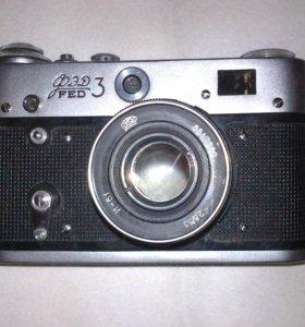 Фотоаппарат фэд 3 и Фотовспышка Луч-70.