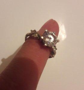 Кольцо серебро (все камни ЦИРКОНИЙ)
