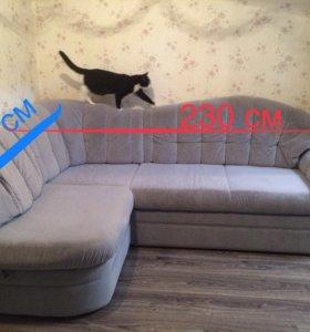 Трехспальный угловой диван