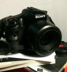 Зеркалка Sony Alpha A57+3 объектива+бонусы
