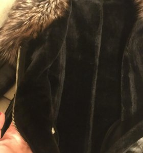 Куртка кожаная зима с нат. Мехом