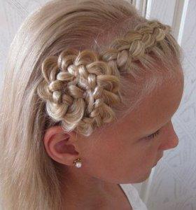 Плетение кос и прически из них