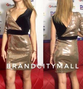 Платье золотое с пайетками