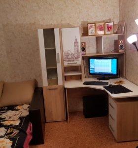 Новый стол с полками и шкафом