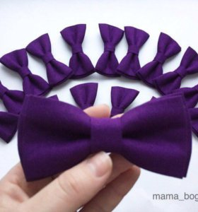 Галстуки бабочки фиолетовые