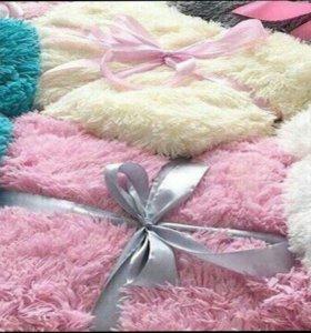 Одеяло-покрывалo с длиннoй воpcой