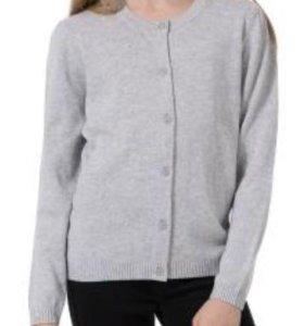 Кардиган серый новый кофта для девочки для школы