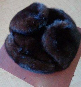 шапка-ушанка из норки