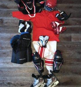 Полная хоккейная амуниция (6-8 лет)