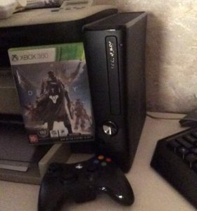Xbox360 slim+ геймпад+Destiny+Kinect