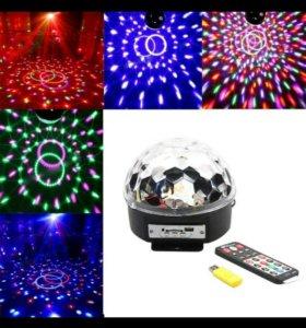 Новогодний светодиодный Диско -Шар с функцией USB