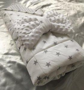 Детское одеяло-конвертик