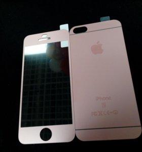 Защитное двусторонне стекло 3D на iPhone 5