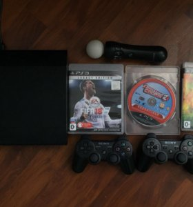 PlayStation 3 супер slim 500 Гиг +3 игры