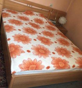 Кровать, тумба, ортопедический матрас