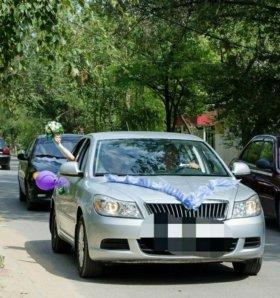 Прокат свадебных украшений на машину ленточки