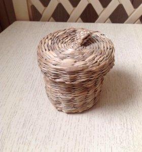 Лукошко/шкатулка для подарка/бижутерии