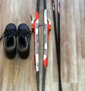 Лыжи беговые детские с ботинками