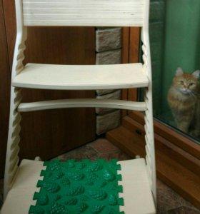 Растущий ортопедический стул + подарок коврик