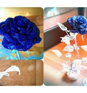 Роза из бисера, рубка!