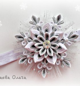 Новогодняя повязка-снежинка