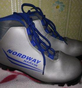 Лыжные ботинки 35 разм.