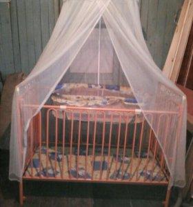 Кроватка детская 0+