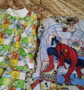 Пижама детскые новые 2 комплект