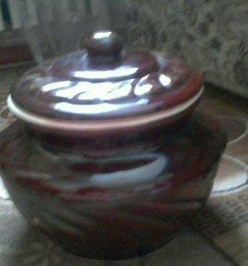 Керамическая посуда(горшок)