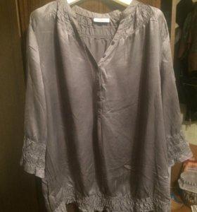Блуза шелковая 54р