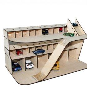 гараж для машинок хотвилс