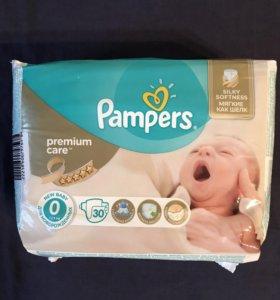 Pampers для новорождённых + салфетки в подарок