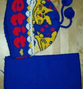 Шапка и шарф на ребенка 2-5 лет