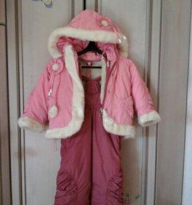 детский комбинезон(курточка+брючки+сумочка)