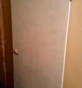 Межкомнатная дверь с коробкой и наличниками