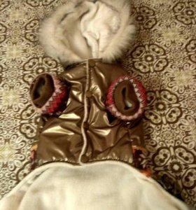 Зимний комбинезон для собаки !35 см по спинке