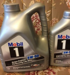 Моторное масло Mobil 1 5v50 5 литров (4+1)