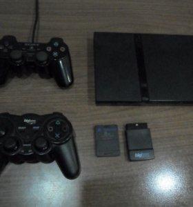 PlayStation 2 + 2 геймпада