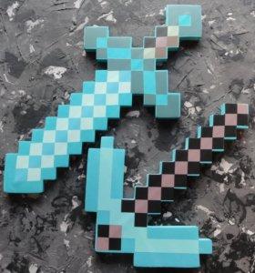 Майнкрафт меч и кирка игрушки