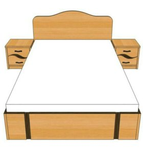 Кровать + тумбочки