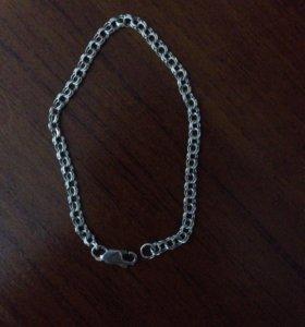 Браслет серебряный новый