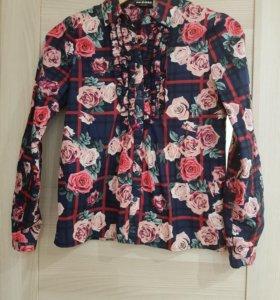 Рубашка для девочки рост 152