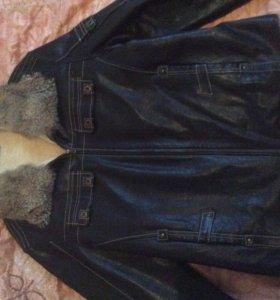 Куртка мужская зимняя ( натуральная кожа, мех)