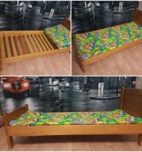 Детская кроватка 165*45 + ватный матрас новый