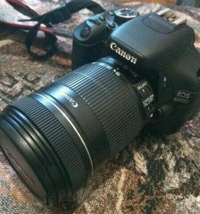Canon 600D +2 объектива 18 -135 и 50 мм 1.8
