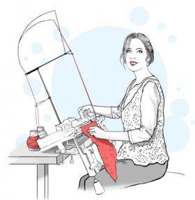 Курсы машинного вязания #Первый ряд